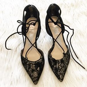 Sam & Libby Omni Ghillie Lace Mid Heel Pumps